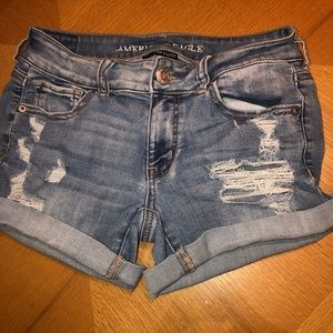 AMERICAN EAGLE light was jean shorts